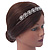 Bridal/ Wedding/ Prom Rhodium Plated Clear Crystal Floral Tiara Headband - view 3