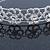 Bridal/ Wedding/ Prom Rhodium Plated Clear Crystal Floral Tiara Headband - view 4