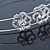 Bridal/ Wedding/ Prom Rhodium Plated Clear Crystal Floral Tiara Headband - view 5