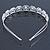 Bridal/ Wedding/ Prom Rhodium Plated Clear Crystal Floral Tiara Headband - view 6
