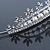Bridal/ Wedding/ Prom Rhodium Plated Clear Crystal, White Simulated Glass Pearl Tiara Headband - view 5