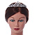 Bridal/ Wedding/ Prom Rhodium Plated Clear Crystal, Simulated Pearl Princess Classic Tiara And Matching Earrings - view 2