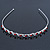 Bridal/ Wedding/ Prom Rhodium Plated Red/ Clear Crystal Tiara Headband - view 8