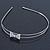 Bridal/ Wedding/ Prom Rhodium Plated Clear Crystal Bow Tiara Headband