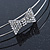 Bridal/ Wedding/ Prom Rhodium Plated Clear Crystal Bow Tiara Headband - view 4