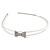 Bridal/ Wedding/ Prom Rhodium Plated Clear Crystal Bow Tiara Headband - view 6