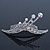 Bridal/ Wedding/ Prom/ Party Rhodium Plated 'Shooting Star' Swarovski Crystal Hair Comb Tiara - 11cm