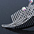 Bridal/ Wedding/ Prom/ Party Rhodium Plated 'Shooting Star' Swarovski Crystal Hair Comb Tiara - 11cm - view 3