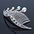 Bridal/ Wedding/ Prom/ Party Rhodium Plated 'Shooting Star' Swarovski Crystal Hair Comb Tiara - 11cm - view 5
