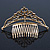 Bridal/ Wedding/ Prom/ Party Gold Plated Swarovski Crystal Hair Comb/ Tiara - 12cm - view 5