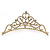Bridal/ Wedding/ Prom/ Party Gold Plated Swarovski Crystal Hair Comb/ Tiara - 12cm - view 4