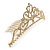 Bridal/ Wedding/ Prom/ Party Gold Plated Swarovski Crystal Hair Comb/ Tiara - 12cm - view 8