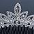 Bridal/ Wedding/ Prom/ Party Rhodium Plated  Swarovski Crystal Hair Comb Tiara - 11cm - view 2