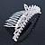 Bridal/ Wedding/ Prom/ Party Rhodium Plated  Swarovski Crystal Hair Comb Tiara - 11cm - view 3