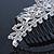Bridal/ Wedding/ Prom/ Party Rhodium Plated  Swarovski Crystal Hair Comb Tiara - 11cm - view 4