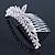 Bridal/ Wedding/ Prom/ Party Rhodium Plated  Swarovski Crystal Hair Comb Tiara - 11cm - view 5