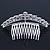 Bridal/ Wedding/ Prom/ Party Rhodium Plated  Swarovski Crystal Hair Comb Tiara - 11cm - view 6