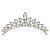 Bridal/ Wedding/ Prom/ Party Rhodium Plated  Swarovski Crystal Hair Comb Tiara - 11cm - view 7