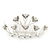 Bridal/ Wedding/ Prom/ Party Rhodium Plated White Simulated Pearl Bead and Swarovski Crystal Mini Hair Comb Tiara - 75mm - view 5