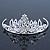 Princess Style Bridal/ Wedding/ Prom/ Party Rhodium Plated Swarovski Crystal Mini Hair Comb Tiara - 60mm