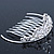 Princess Style Bridal/ Wedding/ Prom/ Party Rhodium Plated Swarovski Crystal Mini Hair Comb Tiara - 60mm - view 2