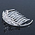 Princess Style Bridal/ Wedding/ Prom/ Party Rhodium Plated Swarovski Crystal Mini Hair Comb Tiara - 60mm - view 4
