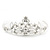 Princess Style Bridal/ Wedding/ Prom/ Party Rhodium Plated Swarovski Crystal Mini Hair Comb Tiara - 60mm - view 5