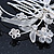 Bridal/ Wedding/ Prom/ Party Rhodium Plated Clear Swarovski Crystal Floral Hair Comb - 85mm - view 4