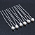 Bridal/ Wedding/ Prom/ Party Set Of 6 Rhodium Plated Crystal Simulated Pearl Hair Pins - view 6