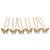 Bridal/ Wedding/ Prom/ Party Set Of 6 Gold Plated Crystal 'Butterfly' Hair Pins - view 6