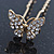 Bridal/ Wedding/ Prom/ Party Set Of 6 Gold Plated Crystal 'Butterfly' Hair Pins - view 3