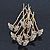 Bridal/ Wedding/ Prom/ Party Set Of 6 Gold Plated Crystal 'Butterfly' Hair Pins - view 2