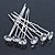 Bridal/ Wedding/ Prom/ Party Set Of 6 Rhodium Plated Crystal Bead Hair Pins - view 6