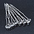 Bridal/ Wedding/ Prom/ Party Set Of 6 Rhodium Plated Crystal Bead Hair Pins - view 8