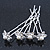 Bridal/ Wedding/ Prom/ Party Set Of 4 Rhodium Plated Crystal Simulated Pearl Flower Hair Pins - view 7