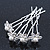 Bridal/ Wedding/ Prom/ Party Set Of 4 Rhodium Plated Crystal Simulated Pearl Flower Hair Pins - view 2