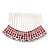 Rhodium Plated Pink/AB Gradient Swarovski Crystal Hair Comb - 60mm - view 2