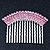 Rhodium Plated Pink/AB Gradient Swarovski Crystal Hair Comb - 60mm - view 6