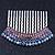 Rhodium Plated Purple/AB Gradient Swarovski Crystal Hair Comb - 60mm