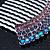 Rhodium Plated Purple/AB Gradient Swarovski Crystal Hair Comb - 60mm - view 4
