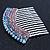 Rhodium Plated Purple/AB Gradient Swarovski Crystal Hair Comb - 60mm - view 3