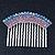 Rhodium Plated Purple/AB Gradient Swarovski Crystal Hair Comb - 60mm - view 5