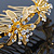 Bridal/ Wedding/ Prom/ Party Gold Plated Clear Swarovski Crystal Floral Hair Comb - 95mm - view 4