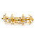Bridal/ Wedding/ Prom/ Party Gold Plated Clear Swarovski Crystal Floral Hair Comb - 95mm - view 7