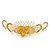 'Calla Lilly' Bridal/ Wedding/ Prom/ Party Gold Plated Clear Swarovski Crystal Floral Hair Comb - 100mm - view 6
