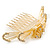 'Calla Lilly' Bridal/ Wedding/ Prom/ Party Gold Plated Clear Swarovski Crystal Floral Hair Comb - 100mm - view 7