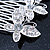 Bridal/ Wedding/ Prom/ Party Rhodium Plated Clear Swarovski Crystal Butterfly Hair Comb - 75mm - view 4
