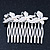 Bridal/ Wedding/ Prom/ Party Rhodium Plated Clear Swarovski Crystal Butterfly Hair Comb - 75mm - view 7