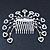 Statement Bridal/ Wedding/ Prom/ Party Rhodium Plated Clear Swarovski Sculptured Heart Crystal Hair Comb - 11.5cm Width - view 2
