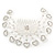 Statement Bridal/ Wedding/ Prom/ Party Rhodium Plated Clear Swarovski Sculptured Heart Crystal Hair Comb - 11.5cm Width - view 7